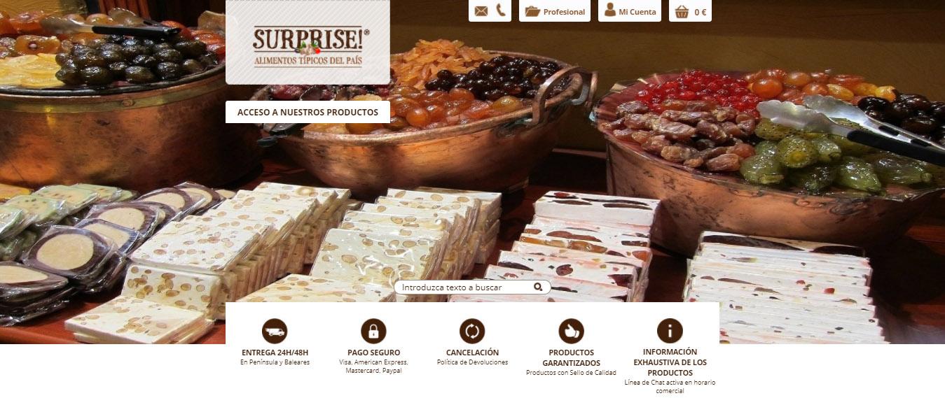 Diseño Tienda Online a medida Alimentos Típicos del País